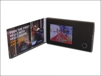 Carte de visite vidéo écran LCD 2.4 pouces